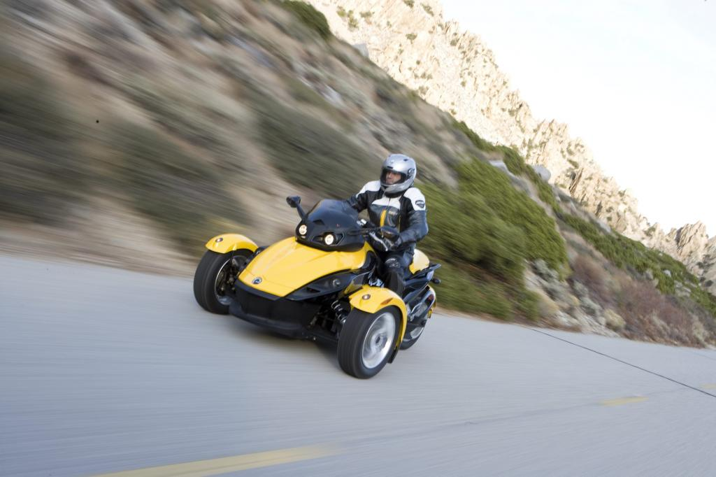 Can-Am Spyder Roadster: Dreirädriges Spaßmobil  - Bild