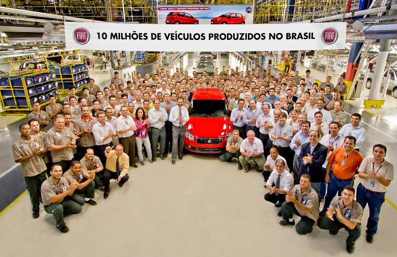 Fiat-Produktion in Brasilien überschreitet 10-Millionen-Marke