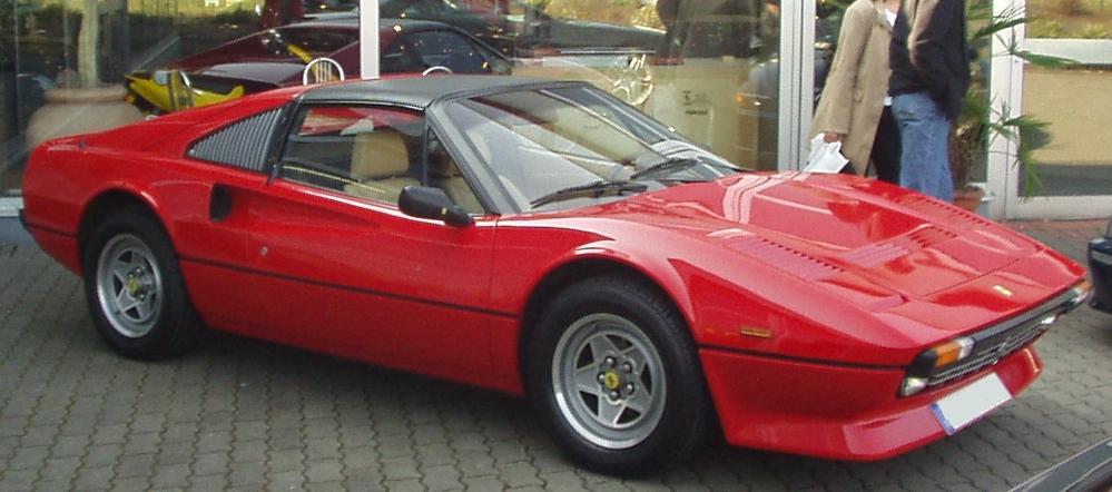 """Magnums """"Dienstwagen"""" - der Ferrari 308 GTS Gute Wahl & Gute Fahrt."""