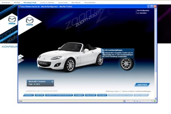 Mazda überarbeitet Neuwagen-Konfigurator