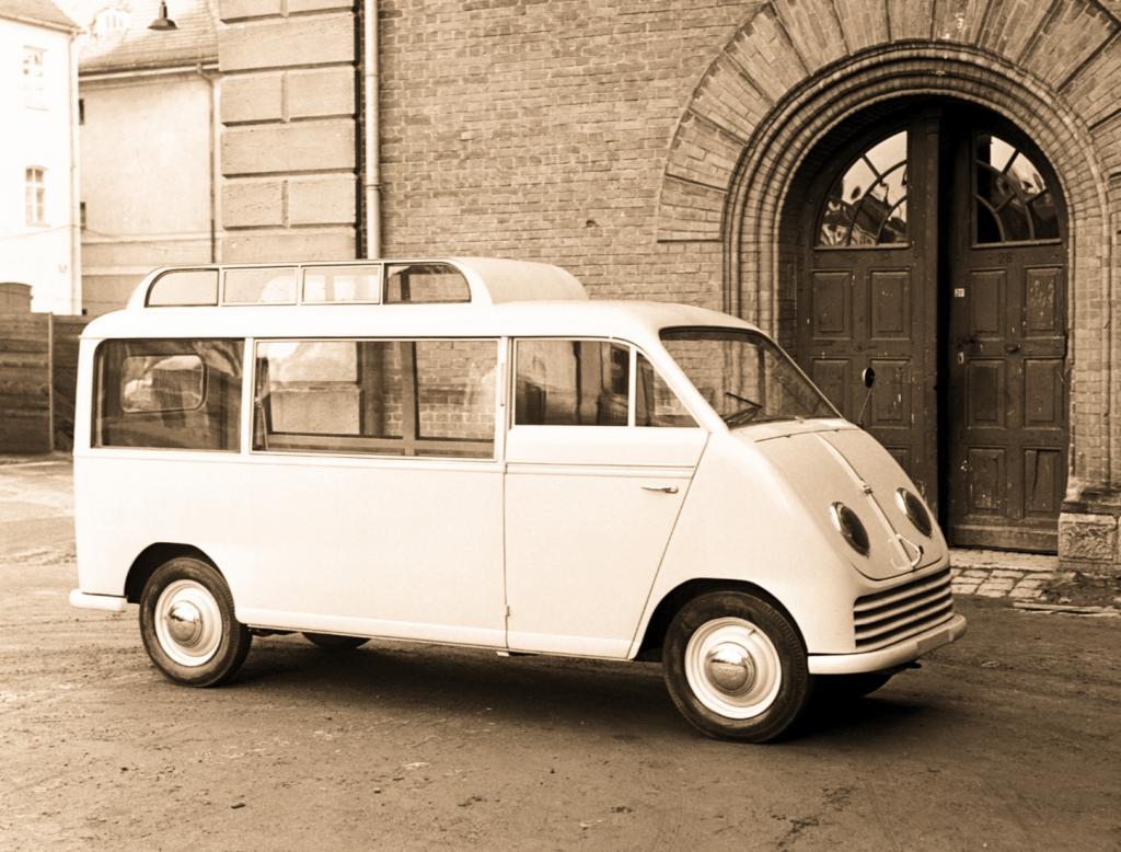 Nostalgiefahrten im DKW Schnelllaster zum Audi-Jubiläum