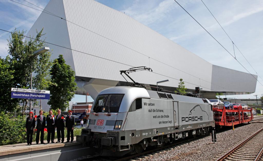 S-Bahn-Station für das Porsche-Museum