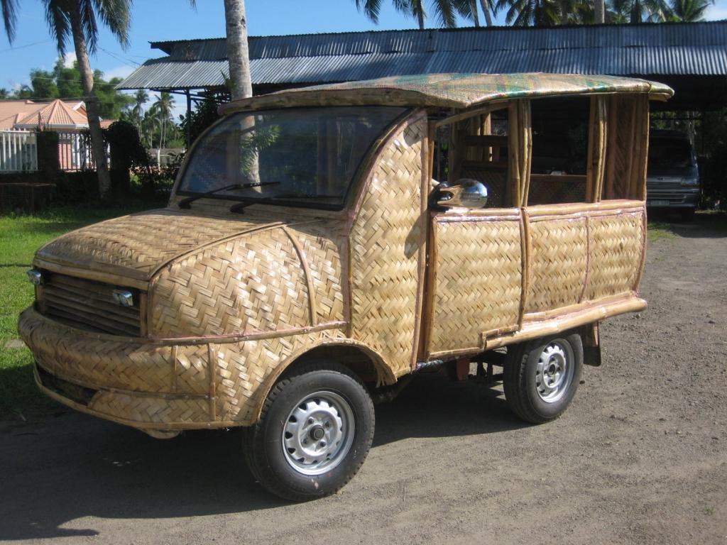 Öko-Autos II: Bambusfahrzeuge auf den Phillipinen Ein Traum von einem Auto.