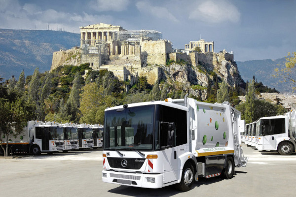 Athen nutzt zur Luftverbesserung Erdgas-Müllabfuhr