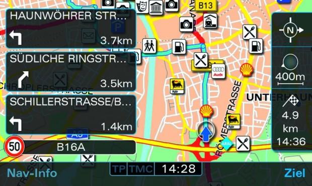 Audi überarbeitet Navigationssystem plus