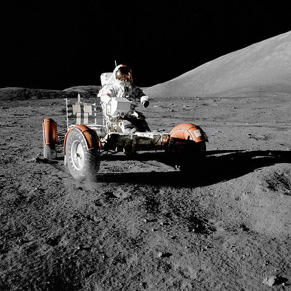 Autos auf dem Mond - 40 Jahre Mondlandung Automobilen Eindruck hinterlassen.