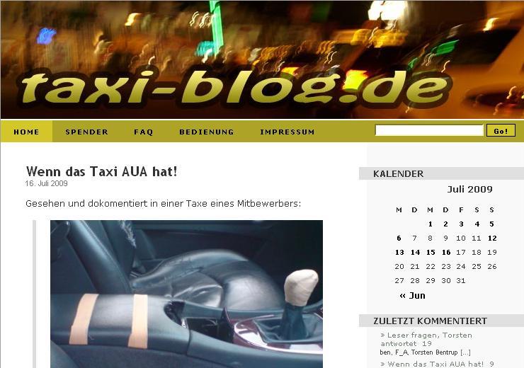 Blog-Empfehlung: Das Taxi-Blog Ein verlässlicher Partner auf 4 Rädern.