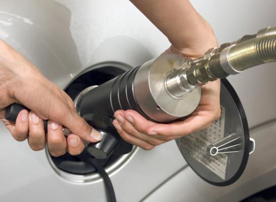 Erdgasautos fahren aus der Nische