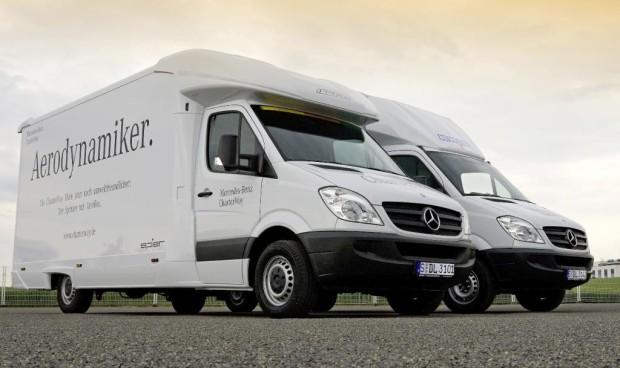 Mercedes-Benz Sprinter mit Aerobox spart Kraftstoff