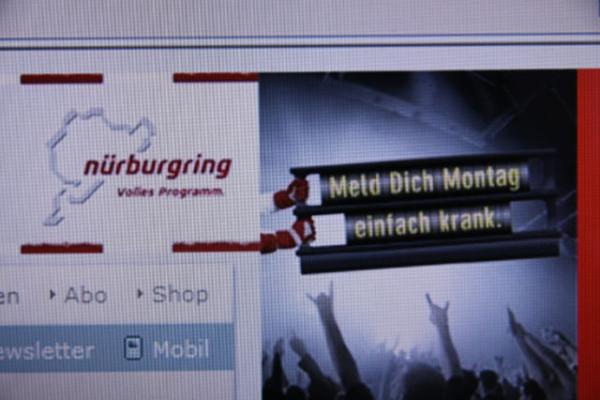 Nürburgring-Werbung voll daneben