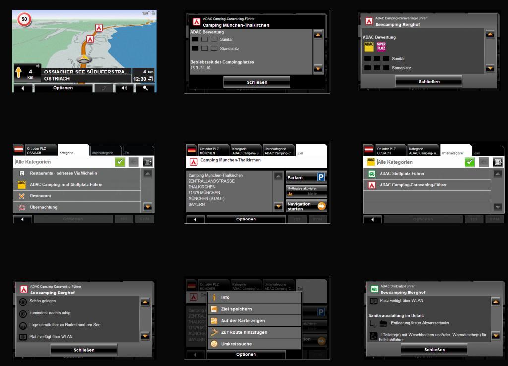 Navigationssoftware mit ADAC-Campingplatz-Informationen