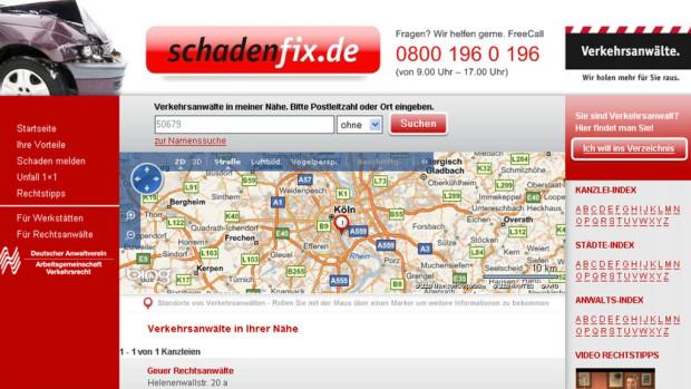 Neues Internetportal für Suche nach Verkehrsanwalt