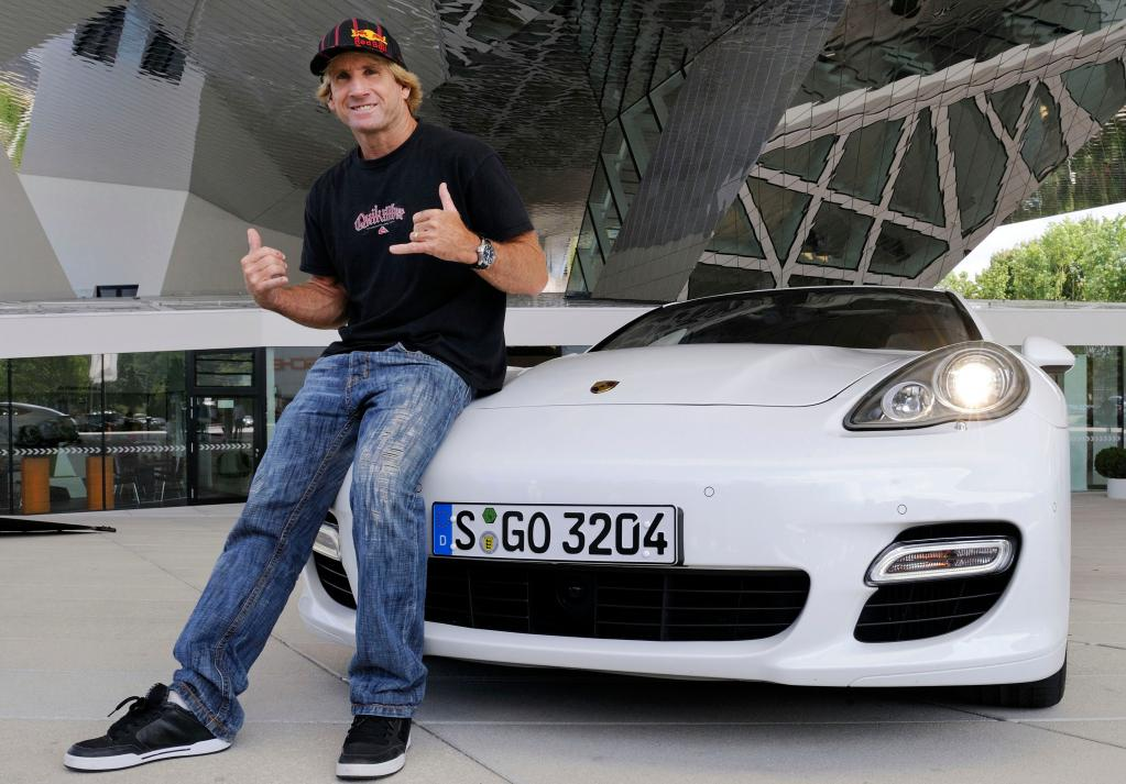 Robby Naish besuchte Porsche