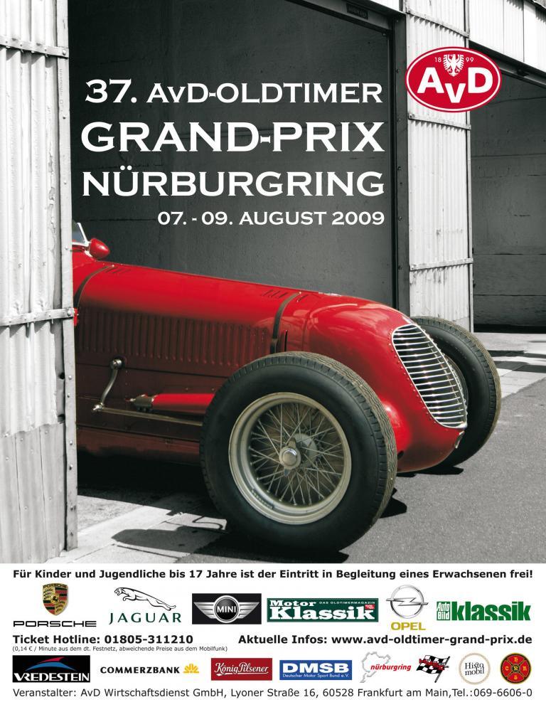 Rollendes Rennwagenmuseum beim Oldtimer-Grand-Prix