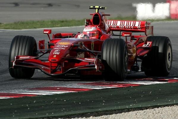 Schumacher im F2007 unterwegs: Test in Mugello