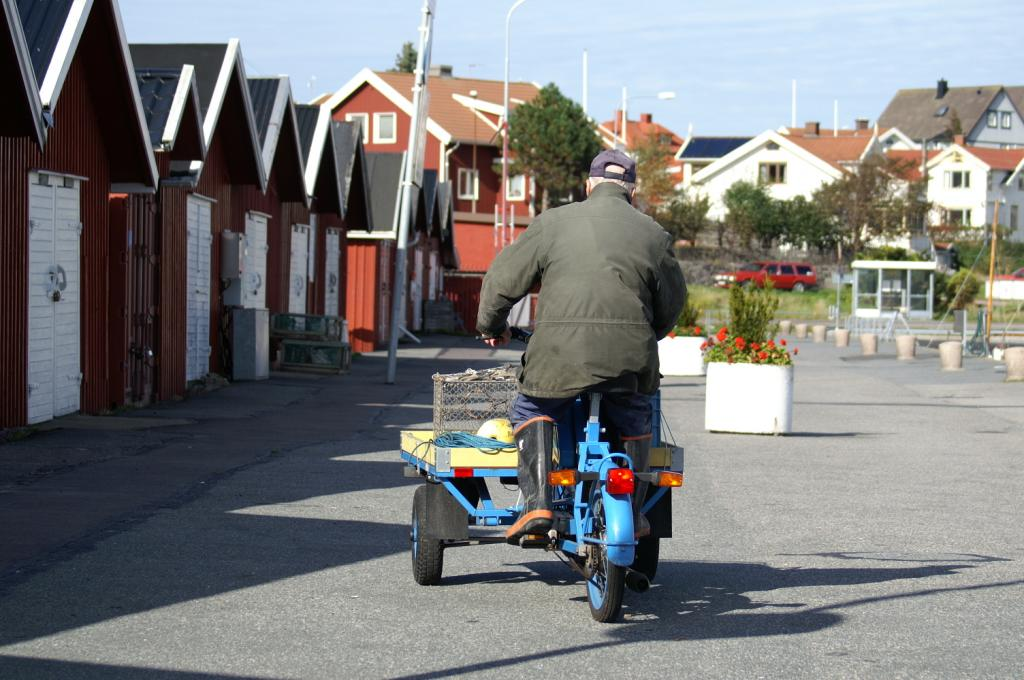 Schwedischer Dreirad-Klassiker : Flakmoped - on the road again