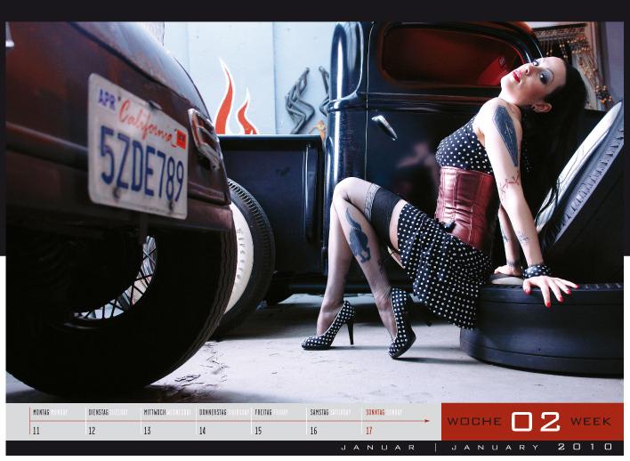 'Girls & legendary US-Cars' - Wochenkalender 2010 von Carlos Kellá erschienen! - Bild(2)