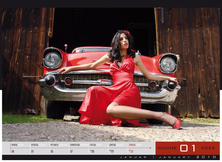 'Girls & legendary US-Cars' - Wochenkalender 2010 von Carlos Kellá erschienen! - Bild