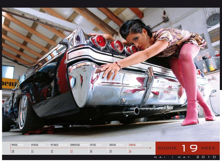 News: 'Girls & legendary US-Cars' - Wochenkalender 2010 von Carlos Kellá erschienen!
