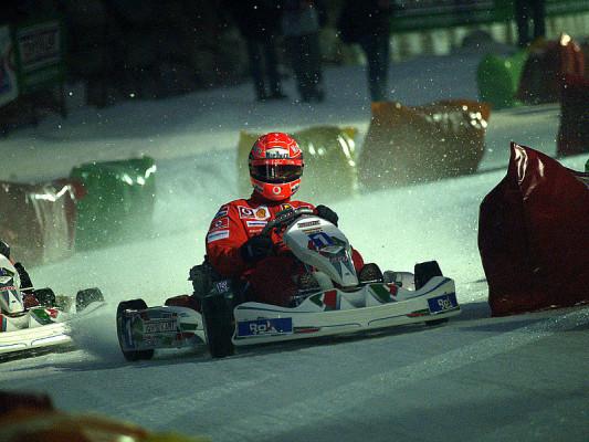 Schumacher fährt im Kart: In der italienischen Hitze