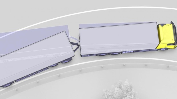 Volvo Trucks bietet ESP nun auch für Gliederzüge an