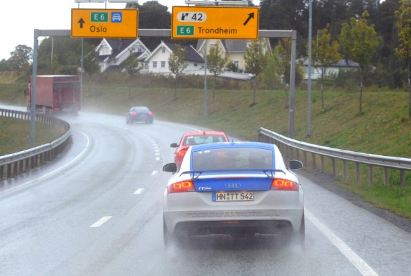 Audi Efficiency Challenge-Flotte in Trondheim