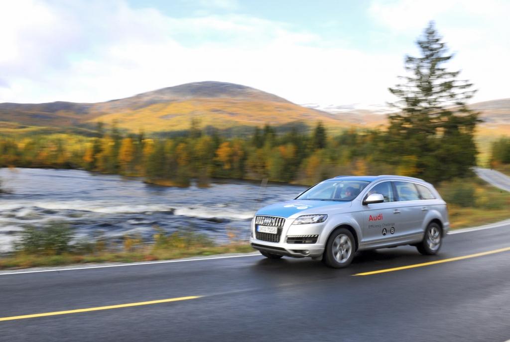 Audi Efficiency Challenge-Flotte in Trondheim
