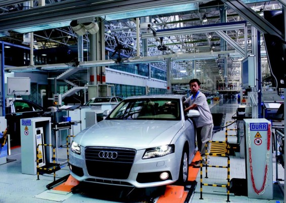 Neue Audi-Montagehalle in China