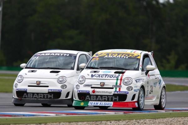 Zwei Wertungsläufe der Trofeo Abarth 500 in Oschersleben