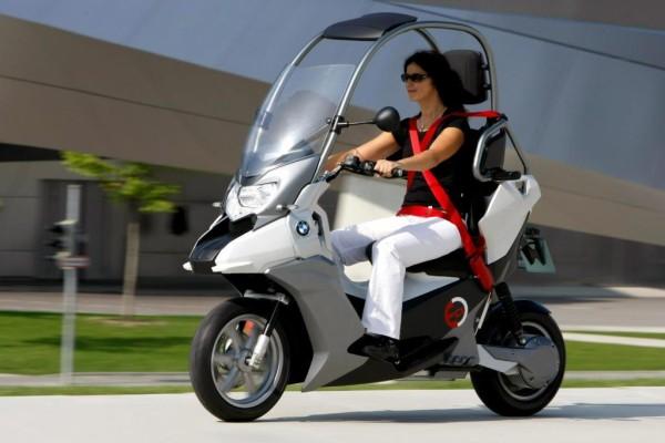 BMW fährt unter Strom: Roller-Studie C1-E mit Elektromotor