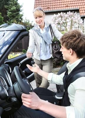 Rabatt für junge defensive Fahrer