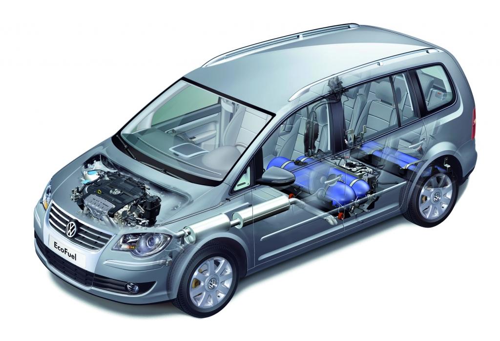 Touran TSI EcoFuel: Mehr Reichweite für den Erdgas-Van