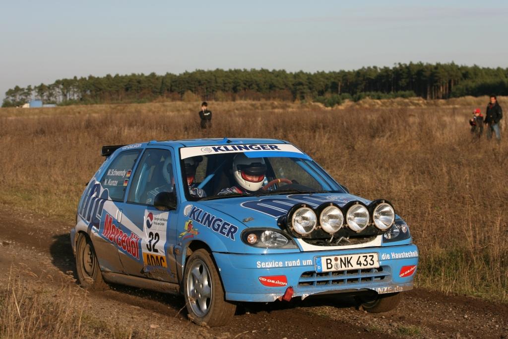 Carsten Alexy gewinnt ADAC-Rallye-Niels Kunze und Michael Schwendy im Citroën Saxo VTS.2009