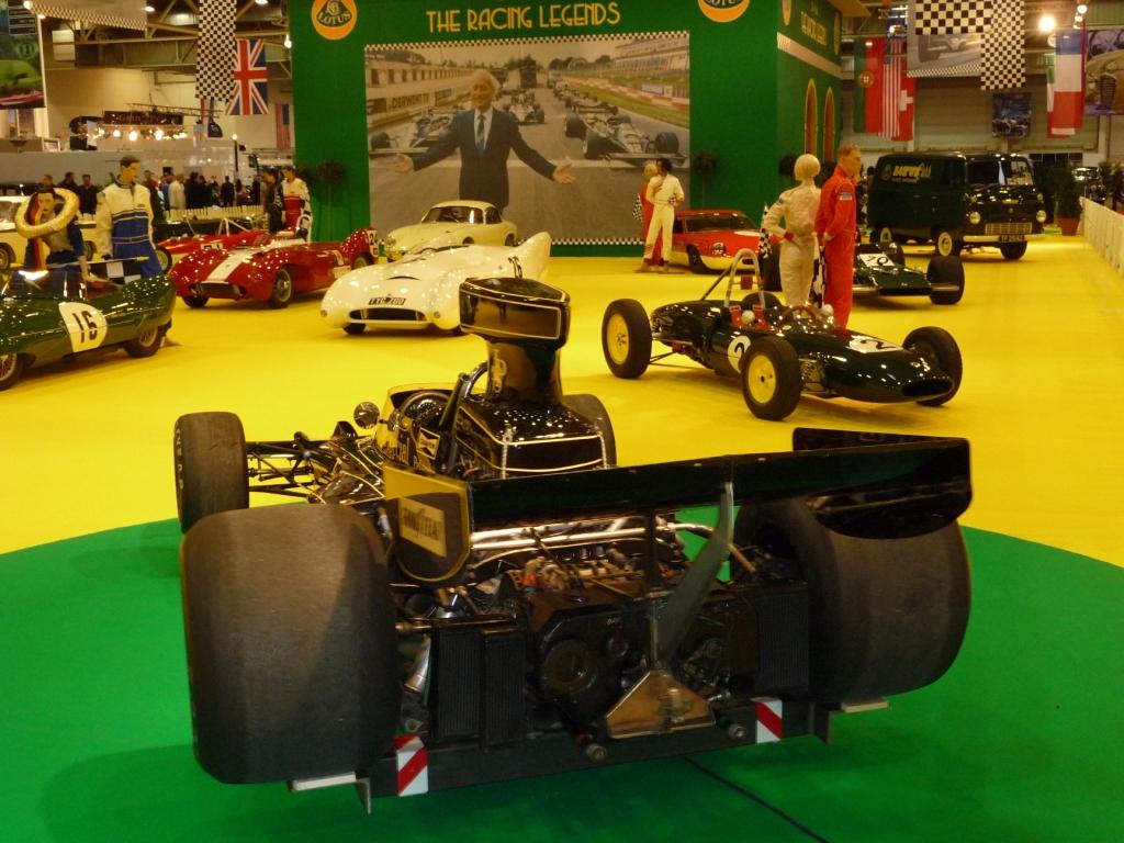 Essen Motor Show 2009: Renn-Legenden von Lotus bilden einen Schwerpunkt in der Halle der Klassiker und Oldtimer.
