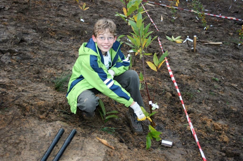Kinder engagieren sich für den Umweltschutz