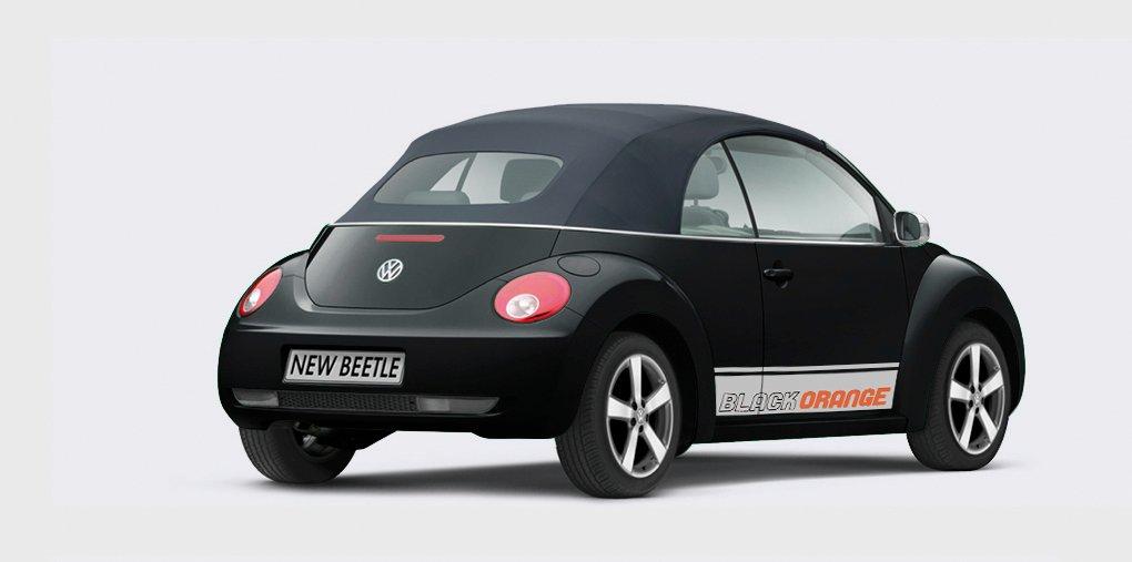 Knalliges Sondermodell des VW New Beetle