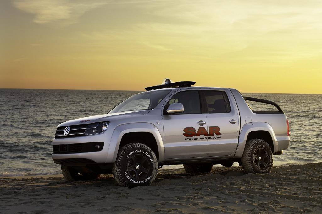 Neuer Pick-up von VW als Begleitfahrzeug der Rallye Dakar