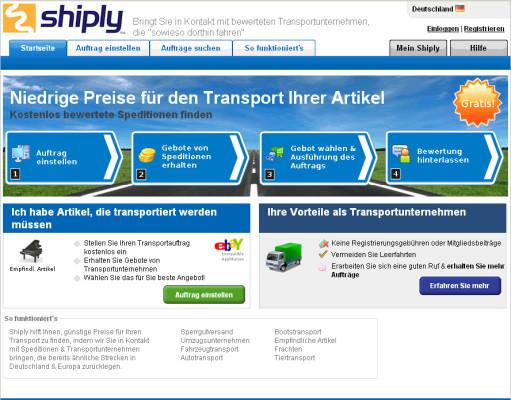 Online-Transportmarktplatz führt Spediteur zu Kunden und umgekehrt