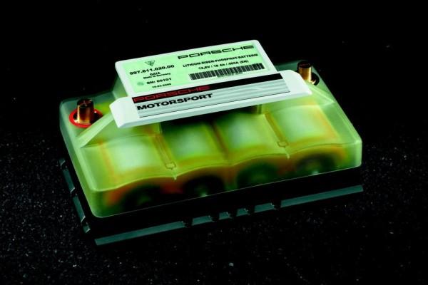 Optionale Lithium-Ionen-Starterbatterie für einzelne Porsche-Modelle