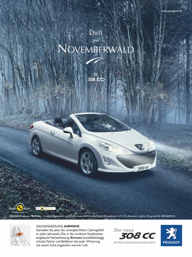 Peugeot-308-CC-Werbung mit dem