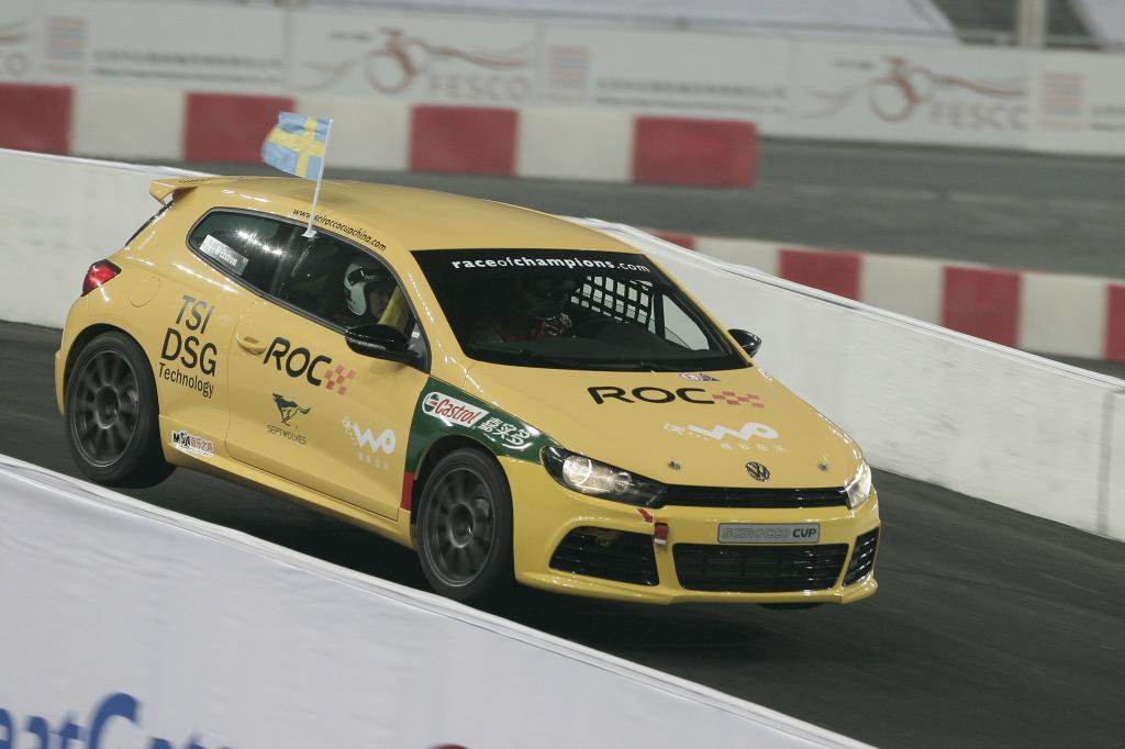 Race of Champions: Motorsport-Weltstars im Volkswagen Scirocco