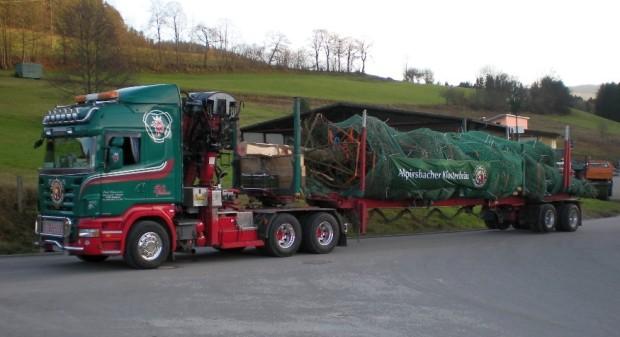 Scania R 620 brachte Weihnachtstanne zum Kanzleramt