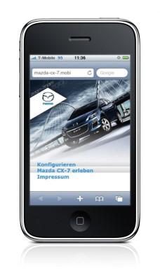 Website für den Mazda CX-7 per Handy abrufbar