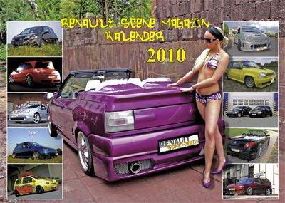 auto.de-Weihnachts-Gewinnspiel: Renault-Scene-Magazin Kalender 2010