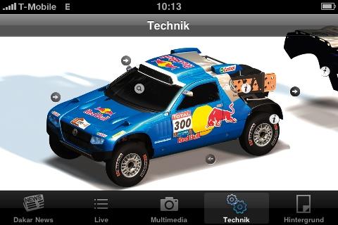 Dakar 2010: Volkswagen holt die Rallye aufs iPhone