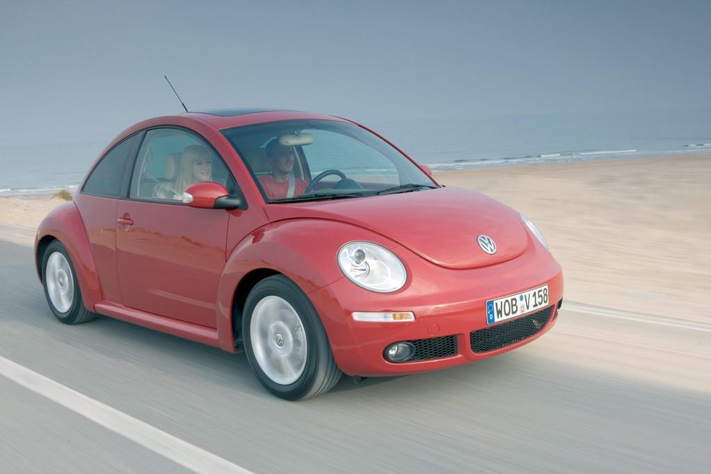 Die letzte Auflage des VW Beetle zeigt sich in LA