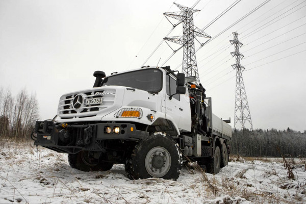 Mercedes-Benz liefert Zetros 6x6 an finnischen Energieversorger