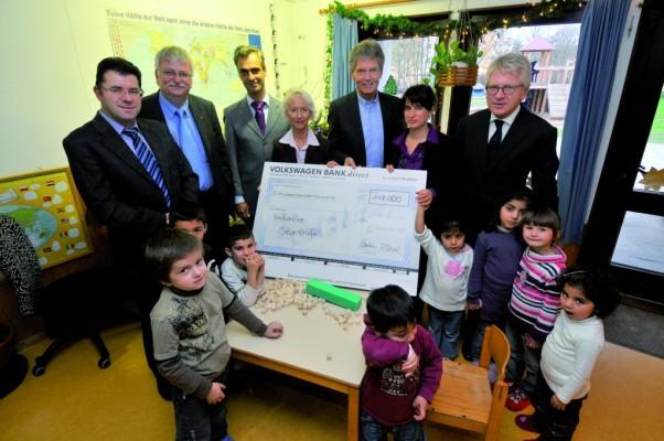 Volkswagen-Belegschaft spendet 118 000 Euro für Initiative gegen Kinderarmut