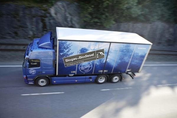 Volvo Trucks testet gasbetriebenen Dieselmotor