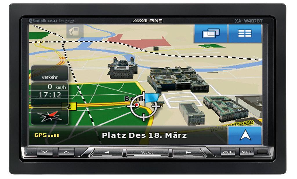 Alpine Electronics mit Lotsenpaket NVE-M300P und iXA-W407BT